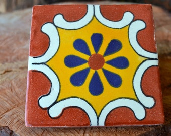 "50 Mexican Talavera Tiles handmade- Hand painted 4 ""X 4"""