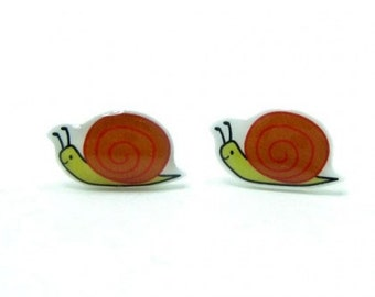 Snail Earrings | Sterling Silver Posts Studs | Gifts For Her