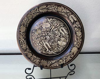 Etched Copper Plate Etsy