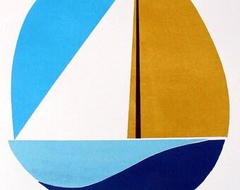 Sails (Woodcut)