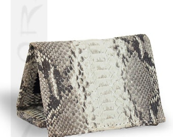 Real Natural Python Trifold Wallet- by Implora (#0781)