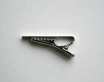 10 pieces of Tie Clip , 40 x 5 mm , Alligator Clip , Silver Color