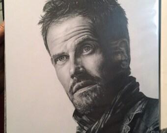 "Original Drawing of Jonny Lee Miller as Sherlock Holmes is TV's ""Elementary"" (NOT a print)"