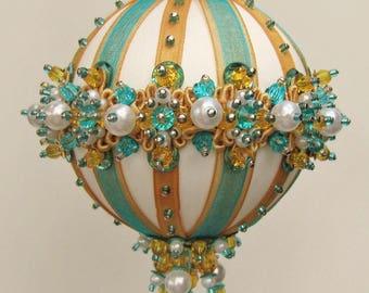 Aegean Pearl - Beaded Christmas Ornament Kit