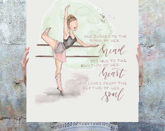 Dancer Girl Poster **