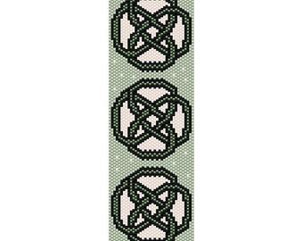 Celtic Knots 10 Peyote Bead Pattern, Bracelet Cuff, Bookmark, Seed Beading Pattern Miyuki Delica Size 11 Beads - PDF Instant Download