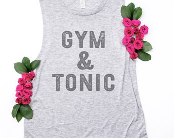 Gym & Tonic, Funny Workout Tank Top