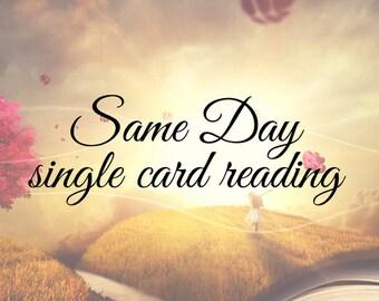 Same day single card reading