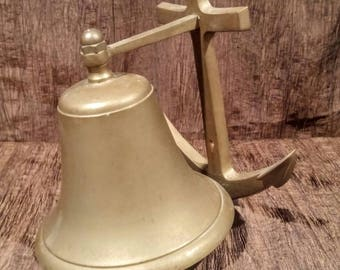 Large Penco wall mount bell, nautical design, free shipping