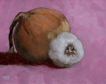 Garlic and Onion - Framed