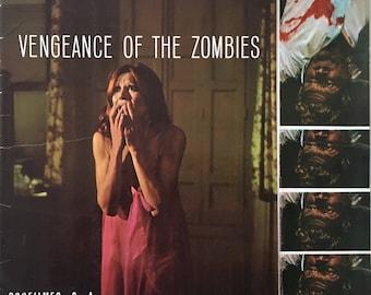 Very Rare Spanish pressbook Vengeance of the Zombies (La rebelión de las muertas) Dir. León Klimovsky  1973