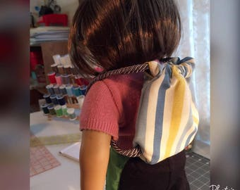 American Girl Doll (18 in doll) Drawtstring Backpack