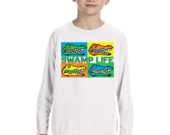 Standley Lake Cosmic Gator Long Sleeve Tee - All Sizes Available - please specify when ordering
