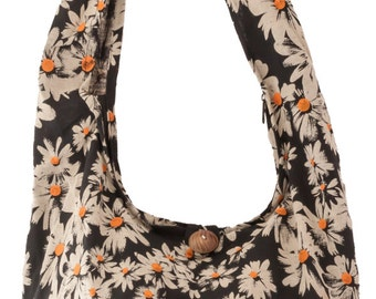 Sling Shoulder cross body Messenger Cotton bag DAISY