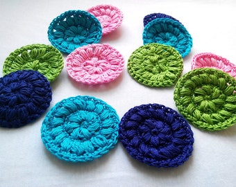 Crocheted Face Scrubbies / Cup Spots