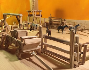 Wild West model parts for a ranch