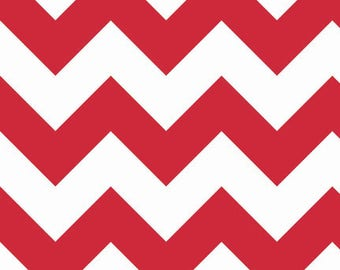 Large Red Chevron from Riley Blake, C330-80 Red, Cotton, Choose the Cut!