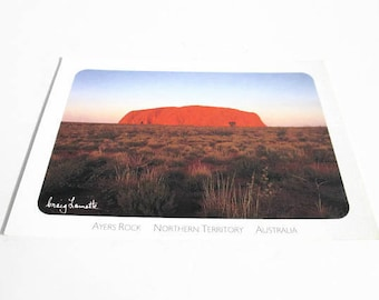 Vintage Postcard, Ayers Rock Northern Territory Australia PC, Uluru Sun Descends, Post Card Craig Lamotte Photo Central Australia Collection