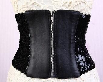 Classic stretch sequins waistband belt, waist corset belt #BT17014