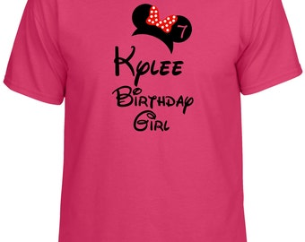 Disney Inspired adult Birthday Girl tshirt t-shirt Shirt