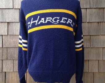 80s vintage San Diego Chargers sweater - Cliff Engle - Medium - crewneck
