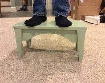Stepstool, bench, solid wood stool