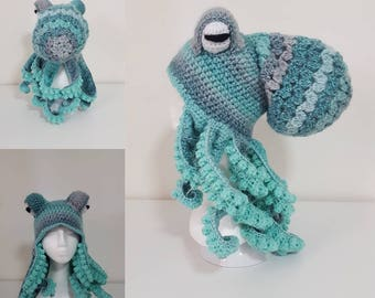 Green Octopus Hat