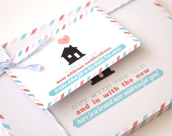 New Address Cards - set of 20 - Moving Announcement