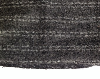 "Wool - 1/2 yd (18"") x 60"" Dark Gray with White Stripe"