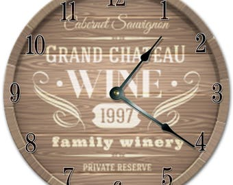 Wijn klok | Etsy