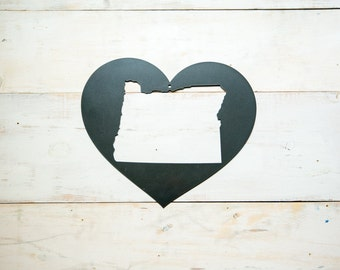Love Oregon Steel Art