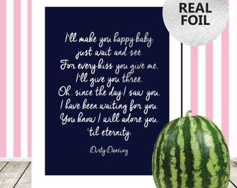 Gold dance quotes etsy dirty dancing quote print dirty dancing be my baby lyrics print dirty dancing poster stopboris Choice Image