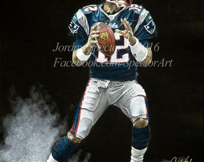 New England Patriot - Tom Brady  - Patriots Art - Patriots - Man Cave Art - Patriots Decor - Dorm Decor - Patriot Gifts - Gift Ideas