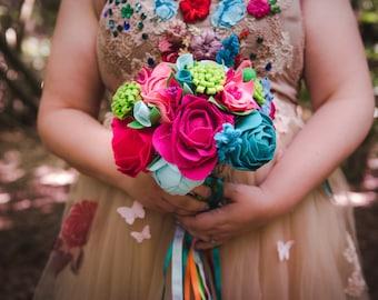 Felt Bridal Bouquet, Keepsake Bouquets, Bridal Flowers, Felt Flowers, Wedding Bouquet, Flower Bouquet, Alternative Bouquet, Boho Bouquet