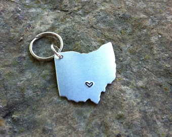CUSTOM KEYCHAIN USA/America or State Map - Ohio Keychain