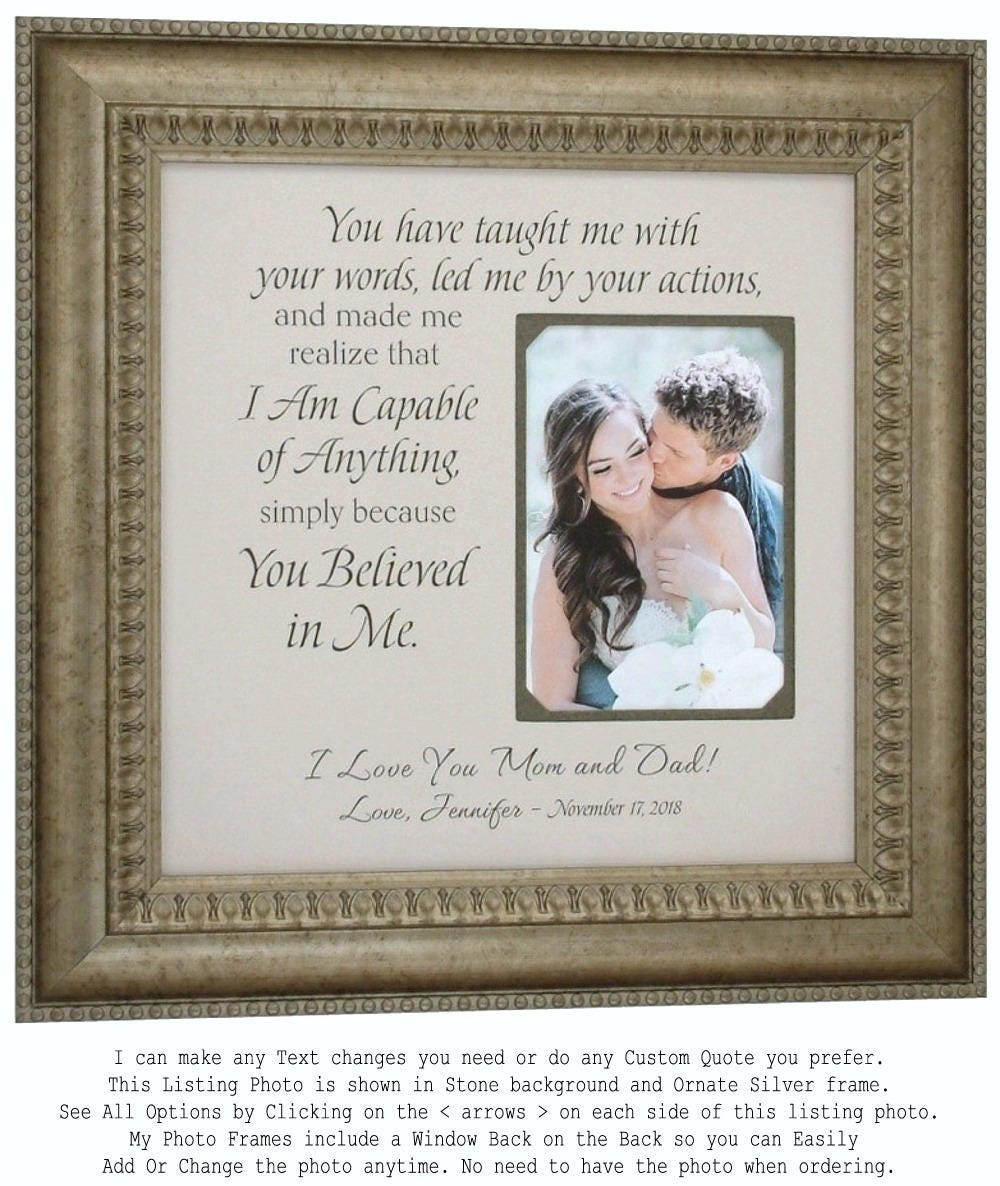 Parents Wedding Gift Personalized Wedding Picture Frame