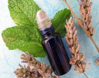 Roll-on migraine/headache Anti Anti organic 4 essential oils