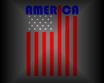 American Flag Car Decal - America Decal - Patriotic Decal - American Flag Art - American Flag Gifts - Vinyl Car Decal - Laptop Decal