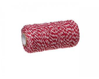 100 m spool Twine Baker's Twine Style Red and white