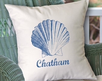 Customized Scallop Shell pillow (INCLUDES PILLOW INSERT)
