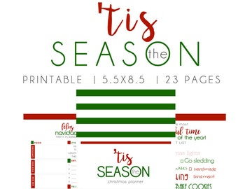 Christmas Planner, Holiday Planner, Christmas printables, Christmas list, Holiday to do, Christmas checklist, SIZE 5.5 x 8.5, jr planner,
