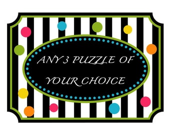 SALE. Any 3 puzzles of your choice from our store for the special price.