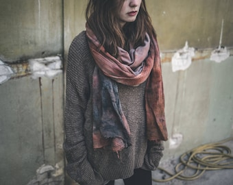 Suzy // Circle scarf // Layer scarf // One of a kind // Rust
