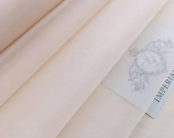 "Light peach Silk organza 55"" wide, Pure Silk organza fabric, Silk fabric, Silk organza light peach Fabric By the Yard,Premium fabric Z00101"