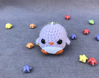 Crochet penguin keychain- amigurumi, penguin keychain, crochet keychain, cute keychain, gift ideas,kawaii, phone lanyard