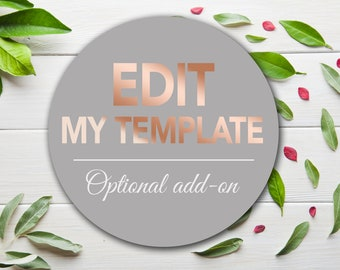 EDIT FOR ME: Customized with your specific details.