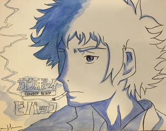 Cowboy Bebop Watercolor Original