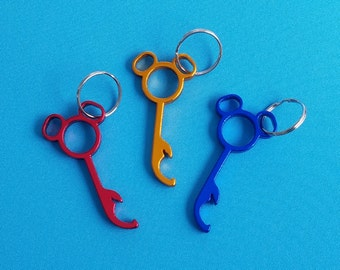 Mickey Head Bottle Opener Keychain - Disney Cruise FE gift - DCL Fish Extender gift - Key Chain