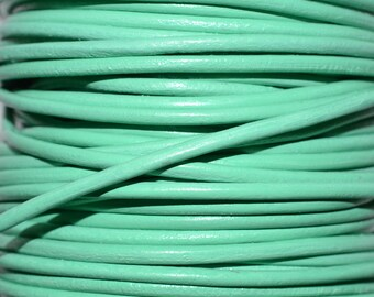Clearance - Mint - 2mm Leather Cord