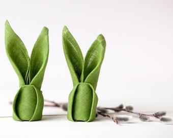 Easter napkin cloths - Easter decoration - Green linen napkins - Spring table decor - Spring cloth napkins - Easter tablescape decor